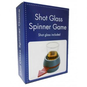 Shot glass spinner game