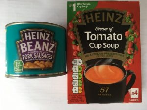 Heinz soup and beans